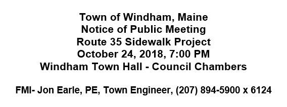 DOT Sidewalk Meeting