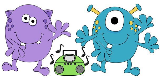 monsters dancing to music
