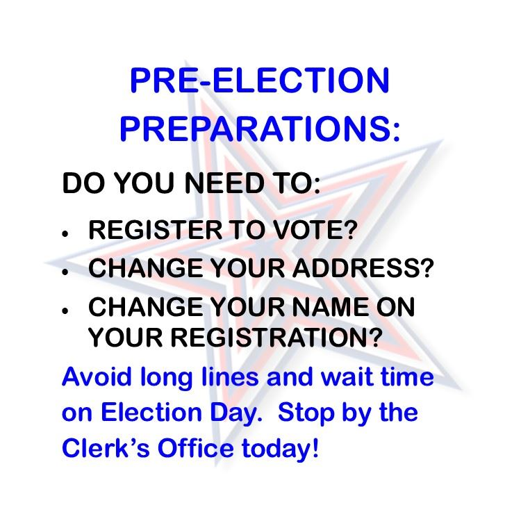 PreElection Registration