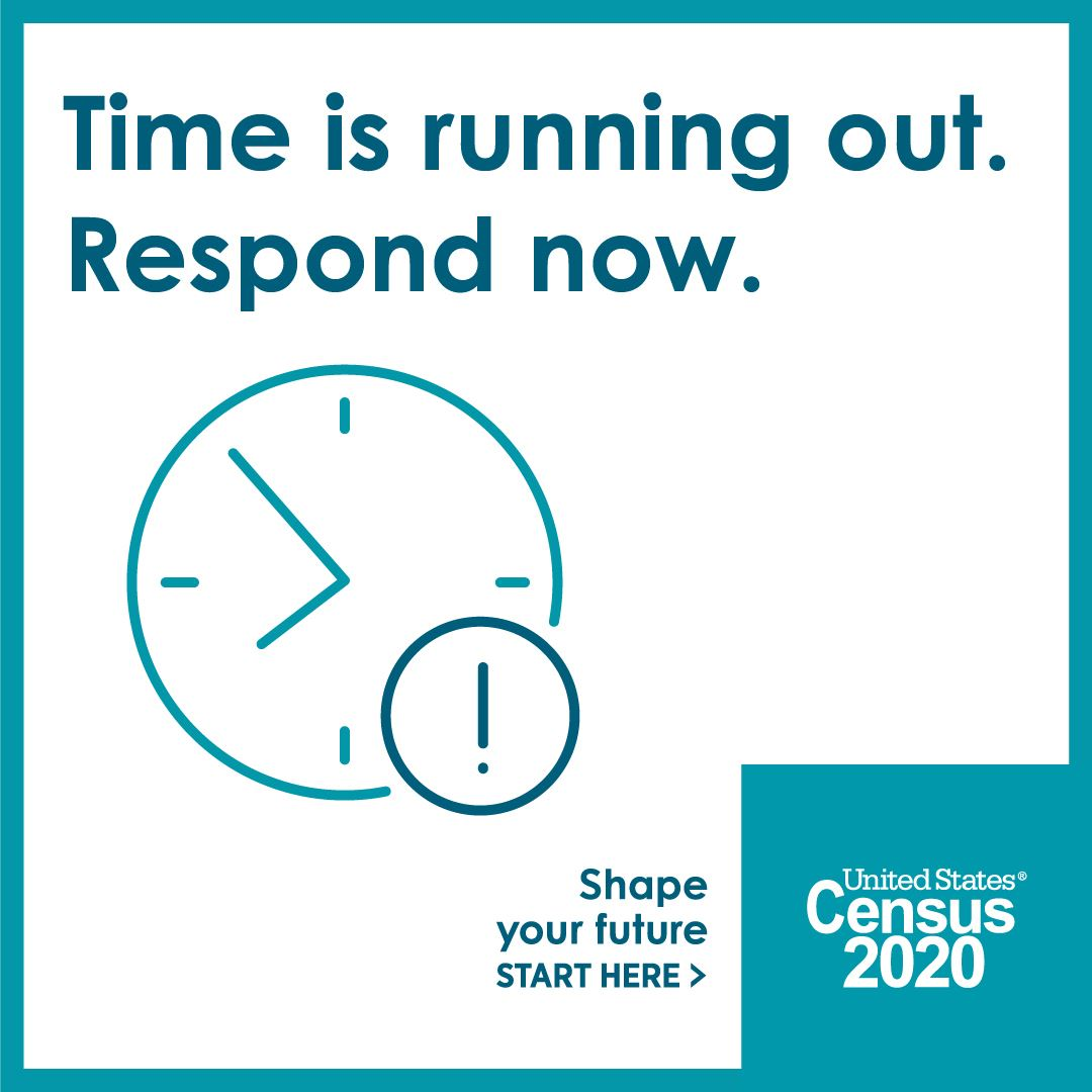 time is running out Census 2020